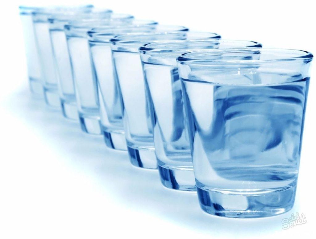 Приём большого количества воды